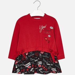 Vestido Mayoral Para Niña Est. 4976 Rojo 2 3 Y 5 Años A