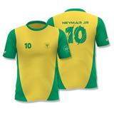 Camisa Neymar Jr Café Pilão Camiseta Nº 10 Amarela E Verde 221897228b8ca
