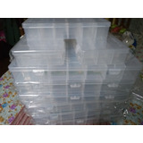 4x Cajas Plásticas Transparentes 2 Tamaños Organizadoras
