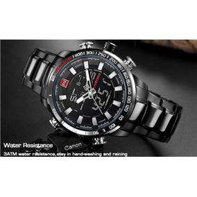Relógio Naviforce Resistente Água 30m Lindo 48mm Aço Nf9093