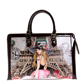Bolsa Rectangular Nicole Lee Vivian Dreams Paris Estampada