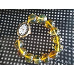 Reloj Para Dama Con Extensible De Ámbar