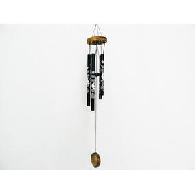 Llamador De Àngeles Yin Yang Madera/tubos Ch 40 X 6 Cm.