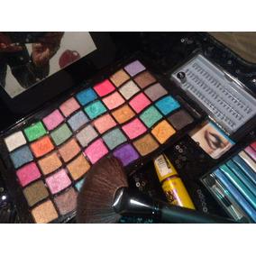 Paleta De Sombras 40 Tonos Shimmer, Platinada O Brillante