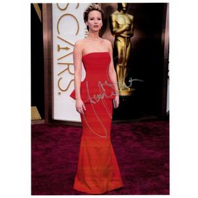 Autografo Foto Da Atriz Jennifer Lawrence Jogos Vorazes