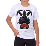 fdce25ee08 Camiseta Camisa Fortnite Victory Roayle Infantil Dark Knight