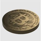 Moneda Bitcoin Grande 10cm Diametro Y 1cm De Ancho Impresa3d