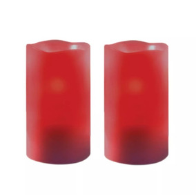 1 Set 2 Velas Cera Natural Led Olor Canela Luz Tempo