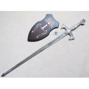 Espada Cavaleiros Templarios Medieval Cruzadas Com Fio