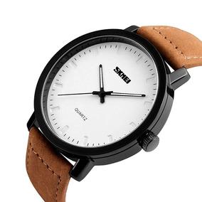 Reloj Hombre Skmei Análogo Movimiento Café Sumergible