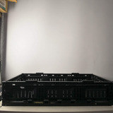 10 Cajas Plásticas Abatible Apilable Color Negro 6411 Usada