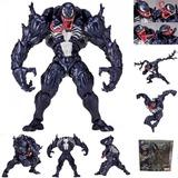 Boneco Venom Revoltech Action Figure Homem Aranha Spiderman