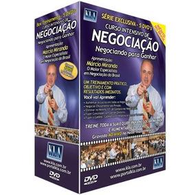Box 5 Dvds-curso Intensivo De Negociação Com Marcio Miranda