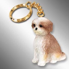 Cachorro Shi Tzu Filhote Chaveiro Importado Miniatura Cães