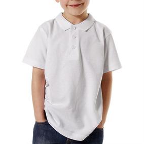 Playeras Escolar Premium Blanca Para Niños (2 Piezas)