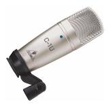 C1u Microfone Condensador Usb Behringer C1 U Prof. Estudio