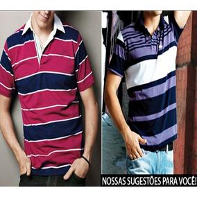948499d26d Kit 10 Camisas Polo - Pólos Manga Curta Masculinas no Mercado Livre ...