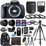 Excelenete Kit Canon Eos Rebel T5i Slr Camera + 18-55mm 30pc