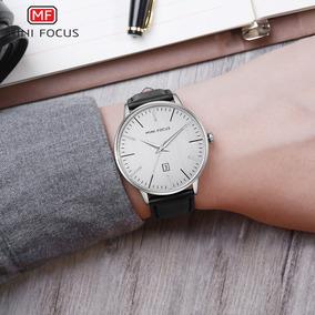 74dc413e040 Mini Focus Moda Couro Genuíno Homens Relógios 3atm
