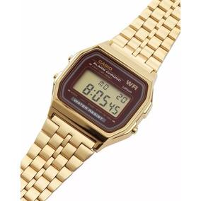 c590217aa7a Relógio Casio Retro Vintage Clássico Dourado Gold - Envio Já