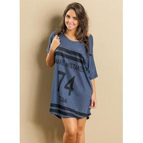 Vestido Camiseta Manga Curta Feminino Esportivo Lançamento f02ae75157854