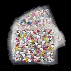 Genial Set De Planillas De Stickers Para Uñas De Hello Kitty