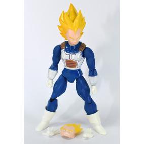 Boneco Dragon Ball Z Vegeta Ssj Brinquedo Articulado +brinde