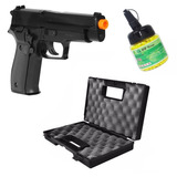 Pistola Airsoft P226 Kwc Spring + Maleta + 2000 Bbs + Nf