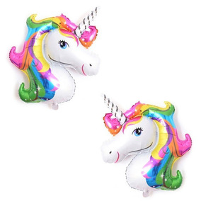 12 Globos Unicornio Para Centros De Mesa 40 Cm X 32 Cm