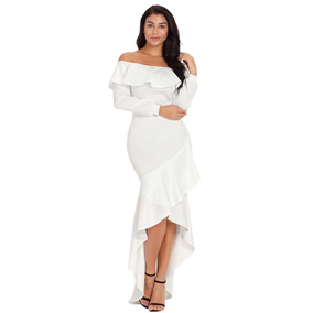 Sexy Elegante Vestido Fiesta Largo Noche Asimetrico E610303