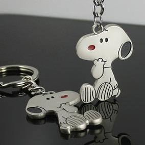 Lindo Chaveiro Do Snoopy Em Aço Inoxidável - Frete Grátis !