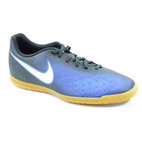 Chuteira Nike Indoor Magista Ola Preto Marinho Branco - 8444 63a650374e185