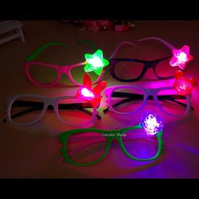 12 Lentes Led Luminosos Luz Kitty Neon Fiesta Boda Rave Xv