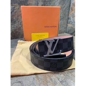 00b9d4738 Cinturon Louis Vuitton Damier Cuadro - Cinturones Hombre Negro en ...