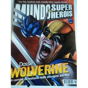 Revista-mundo Dos Super Heróis:vol.16-wolverine,sandman,hqs
