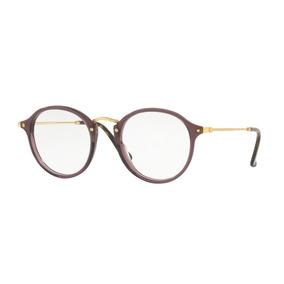 Armação Olho De Gato Redondo - Óculos Lilás no Mercado Livre Brasil b27da16dff