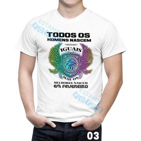 2025ec09b0 Camisetas Personalizadas Com O Mes Fevereiro - Camisetas Manga Curta ...