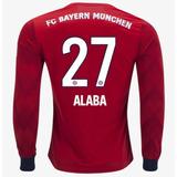 Camisa Alaba 27 Bayern De Munique 2018-2019 Manga Longa Novo 742b4b82d79cf