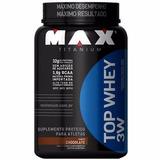 Top Whey 3w (900g) Max Titanium - Promoção + Brinde