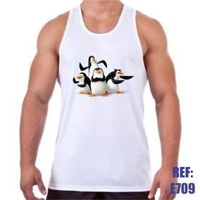 eb291a9ef Camiseta Regata Pinguins De Madagascar Desenho Animado
