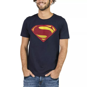 Playera Superman® Comics Mediana Manga Corta Cuello Redondo