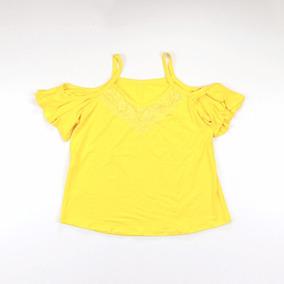 Blusa Babado Ciganinha Detalhe De Renda Camisa Alça Atacado
