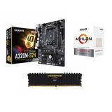 Kit De Actualizacion Am4 Athlon 200ge, Ram 8gb Corsair Ddr4