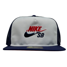 Boné Nike Sb Cap Trucker Azul Marinho   Branco Original e3ad5d42bc3