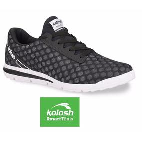 085c2a2708 Tênis Kolosh Conforto Cadarço Jogging Preto K8272