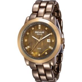 51a9ff3313e Relógio Seculus Aplause Madre Pérola Strass 24788lpsfdp2 - Relógios ...