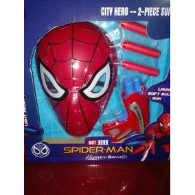 Mascara Y Pistola Nerf Spiderman