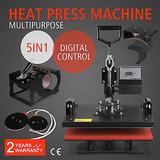 5 En 1 Digital Calor Prensa Máquina Sublimación Para