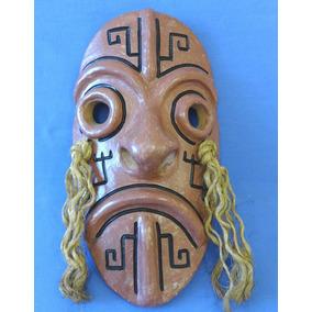 Mascara Africana Em Barro Terracota - Tribal