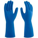 9e15b3475f153 Luva Latex Antiderrapante Azul Tam Xg (10 Pares) Mucambo